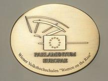 Medaille van het Europees Parlement Stock Fotografie