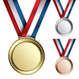 Medaillen Stockbild