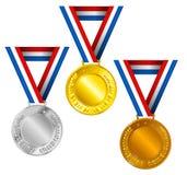 Medaillen Lizenzfreie Stockfotos