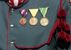 Medaillen Lizenzfreie Stockbilder