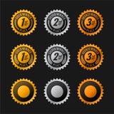 Medaillen Stockfotografie