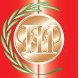 Medaillen der Meister Stockbild