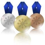 Medaillen für Winter-Spiele Lizenzfreie Stockfotografie