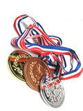 Medaillen gekippt stockbild