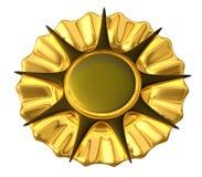 Medaillen-Gold - getrennt Stockbild