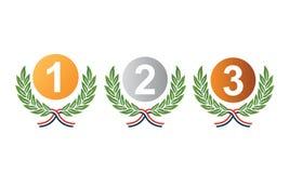 Medaillenpreise für Siegervektor lizenzfreie abbildung