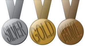 Medailles Royalty-vrije Stock Afbeelding