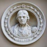 Medaillon-Fehlschlag von Horatio Nelson in Greenwich Lizenzfreie Stockfotografie
