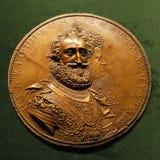 Medaillon Henri IV le Grand mit Marie de Medici Stockfotografie