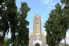 Medak church Stock Photography