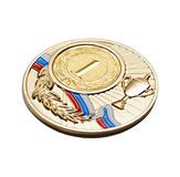 Medal. The sports award for a come out on top Stock Image
