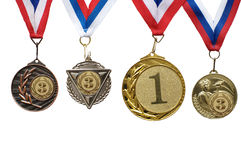 Medal. Sports medals for the first and third places Royalty Free Stock Photos