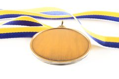Medal. With ribbon on the white background royalty free stock images