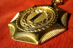 Medal. For a great performance Stock Images