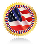 Medal with American flag Royalty Free Stock Photo