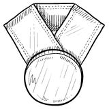 Medal award background vector illustration
