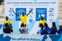 35th Athens Classic Marathon, the Authentic Royalty Free Stock Images