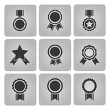 Medal and award icons Royalty Free Stock Photo