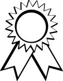 Medal award vector illustration Royalty Free Stock Photos
