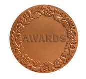 Medal for awarding. Medal with ornament for awarding the winner as success achievement concept Royalty Free Stock Image