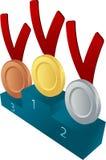 Medal awards illustration Royalty Free Stock Images