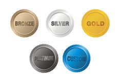 Medal badge Royalty Free Stock Photos