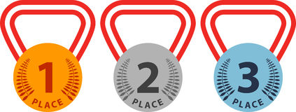 Medal badges Stock Photos