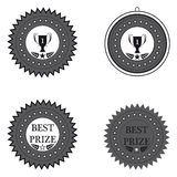 Medal best prize and first place on a white background. Design element vector illustration Stock Images