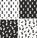 Medal Big & Small Aligned & Random Seamless Pattern Set. This image is a illustration and can be scaled to any size without loss of resolution Stock Images