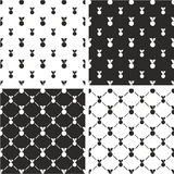 Medal Big & Small Seamless Pattern Set. This image is a illustration and can be scaled to any size without loss of resolution Royalty Free Stock Photos