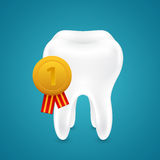 Medal for the cleanest tooth Stock Photos