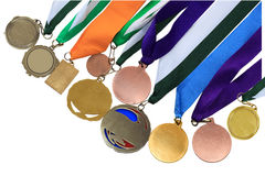 Medal Collection. Collection of medals in different shape and colors Stock Image