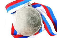 Medal and color Ribbon Royalty Free Stock Images