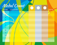 Medal Count Design Royalty Free Stock Photography