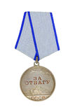 Medal For Courage. On a white background royalty free stock photos