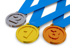 Medal - 3D Stock Image