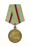 Medal For the Defence of Kiev. On a white background royalty free stock images