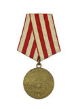 Medal For the Defence of Moscow. On a white background stock photos