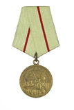 Medal For the Defence of Stalingrad. On a white background stock image