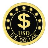 Medal with a dollar sign Royalty Free Stock Images