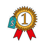 Medal first place isolated icon. Vector illustration design Stock Image