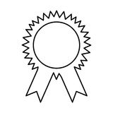 Medal first place isolated icon. Vector illustration design Stock Photography