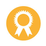 Medal first place isolated icon. Vector illustration design Stock Photo