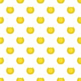 Medal for first place pattern, cartoon style. Medal for first place pattern. Cartoon illustration of medal for first place vector pattern for web Royalty Free Stock Image