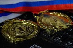 Medal  1. Medal for the first place, Russia Stock Images