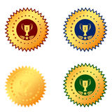 Medal first place on a white background Royalty Free Stock Photos