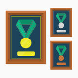 Medal with frame Royalty Free Stock Photography