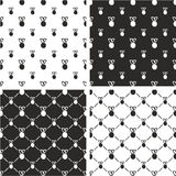 Medal Freehand Big & Small Seamless Pattern Set. This image is a illustration and can be scaled to any size without loss of resolution Royalty Free Stock Image