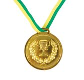 Medal. Golden medal on the white stock photos