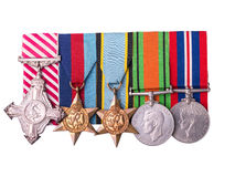 Medal group including air force cross Royalty Free Stock Photo
